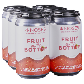 4 Noses Fruit on the Bottom Strawberry 6pk 12 oz Cans