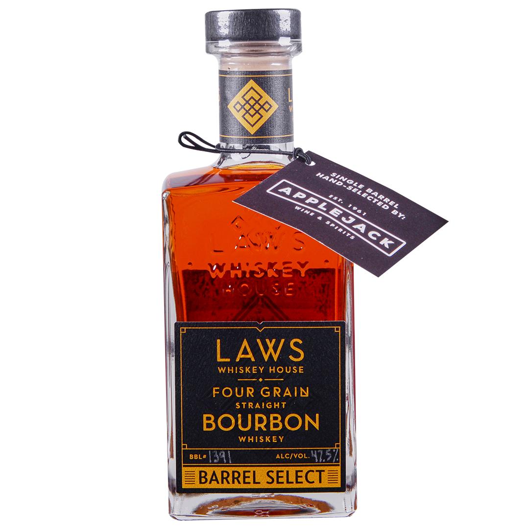 Applejack A D Laws Four Grain Bourbon Whiskey Single