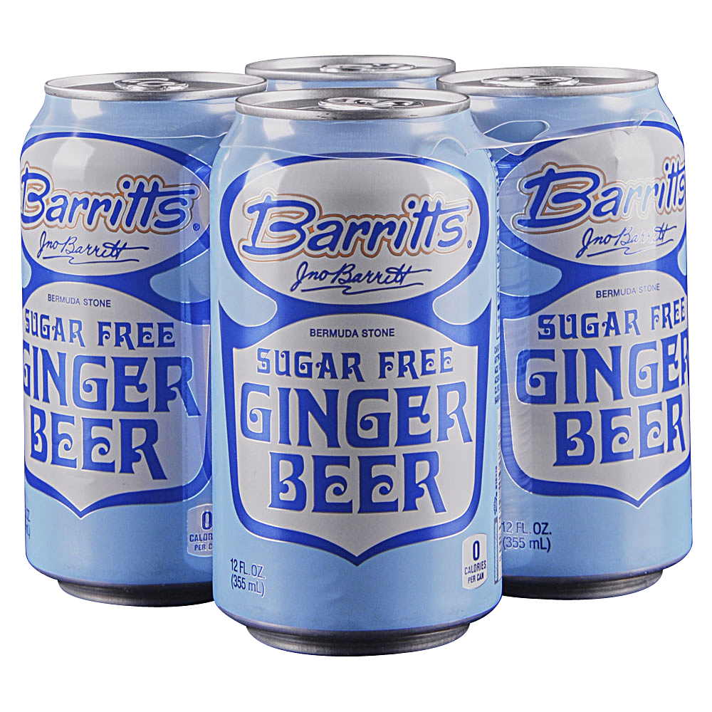Barritts Sugar Free Ginger Beer 4pk Cans
