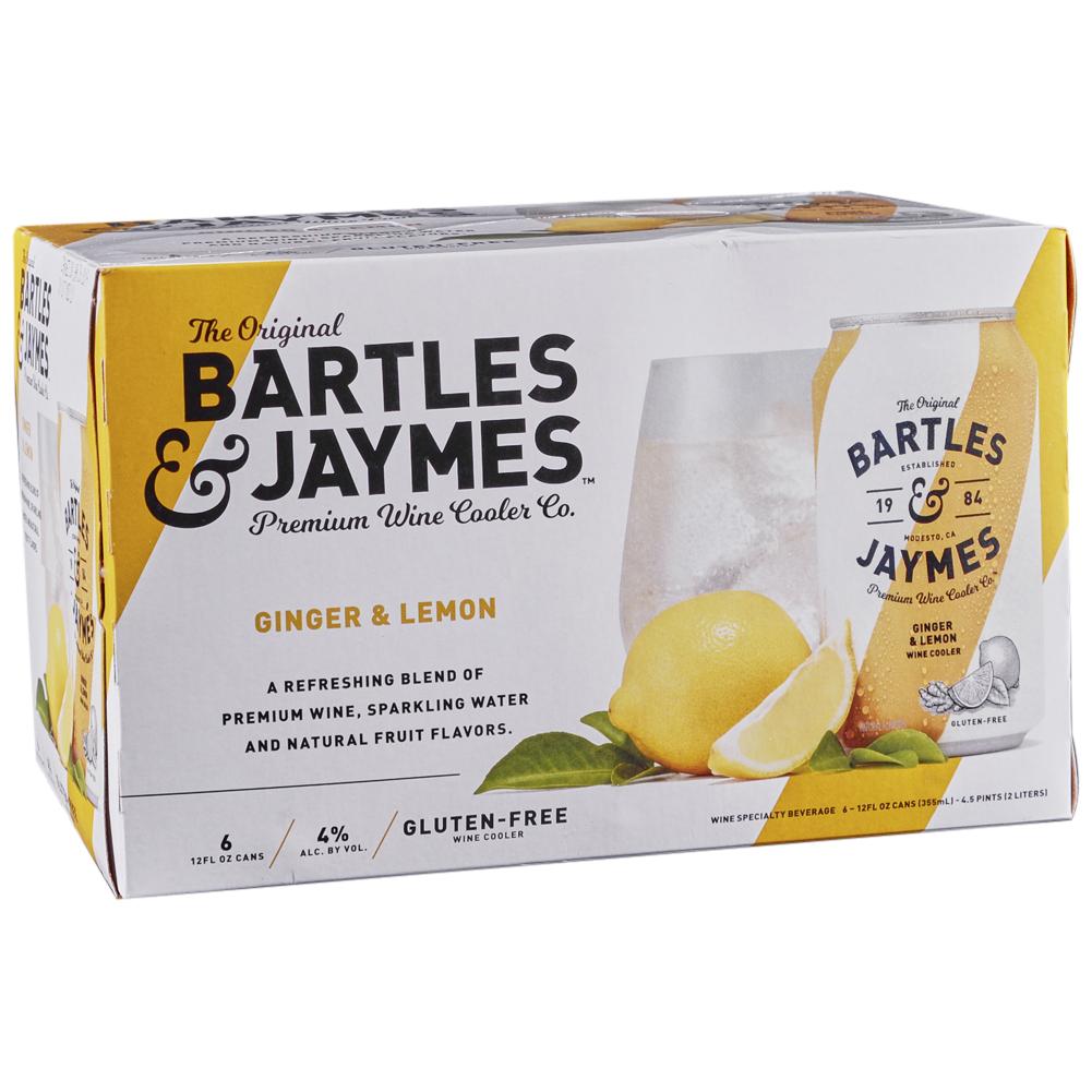 Bartles & Jaymes Ginger Lemon 6pk 12 oz Cans