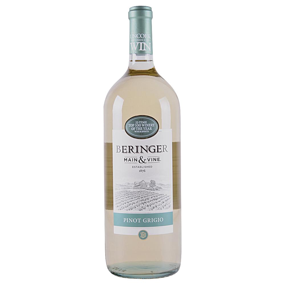Beringer Pinot Grigio Main Amp Vine 1 5 L Applejack