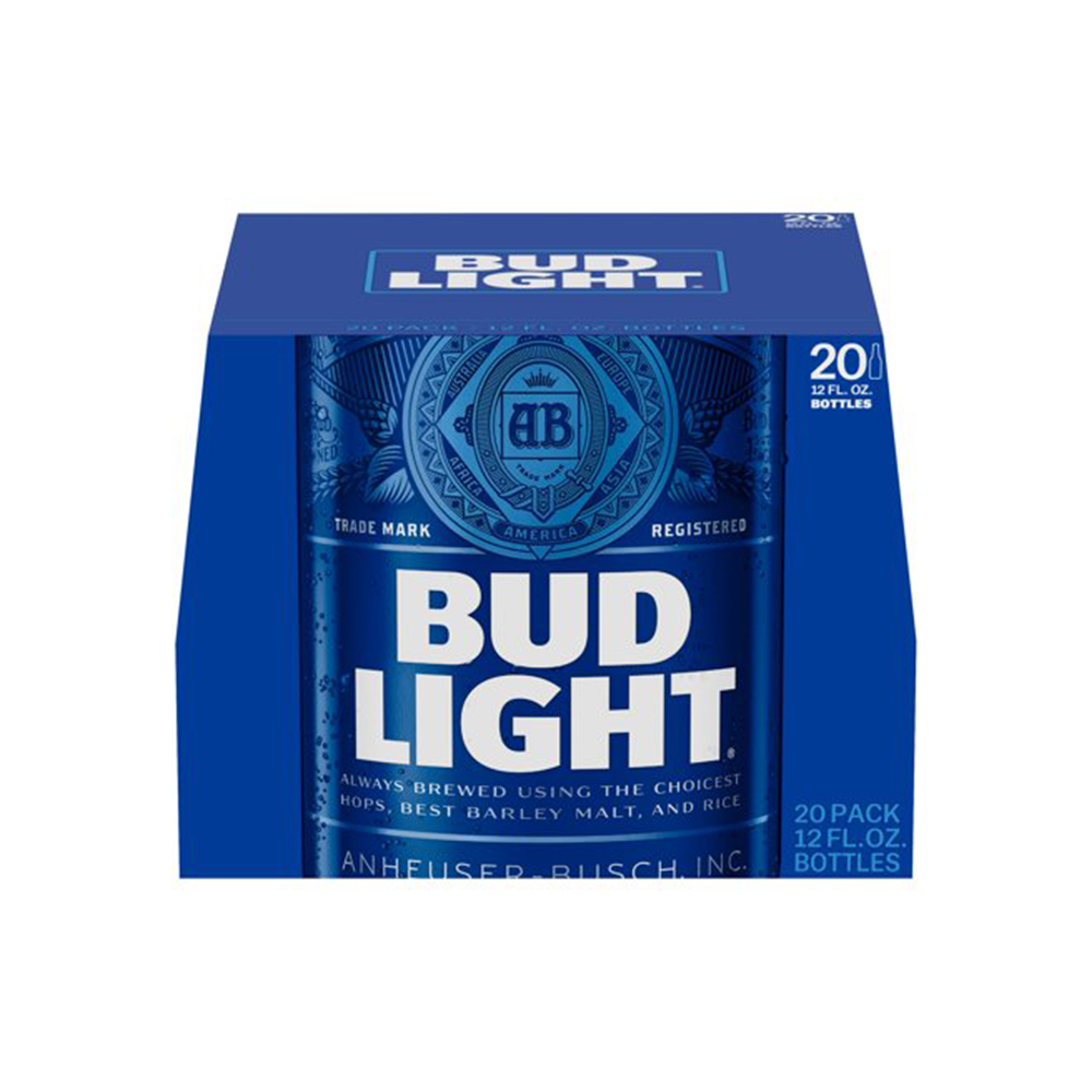 Bud Light 20pk 12 oz Bottles