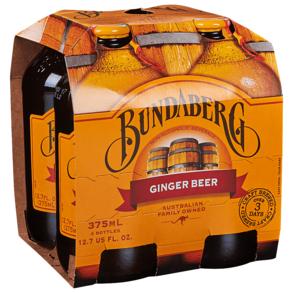 Bundaberg Ginger Beer 4pk 12 oz Btls