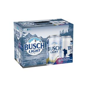 Busch Light 30pk 12 oz Cans