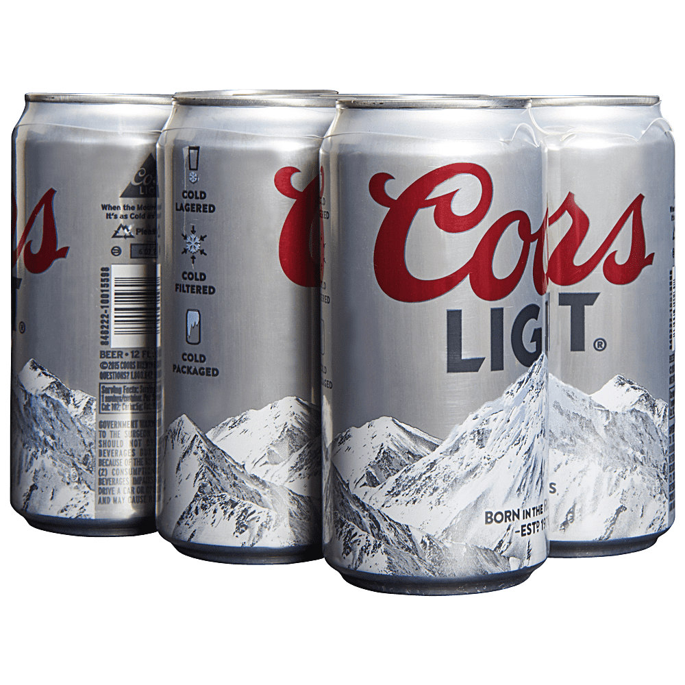 coors light 12 oz cans