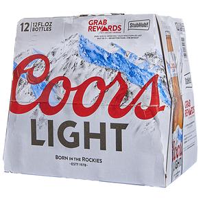 Coors Light 12pk 12 oz Bottles