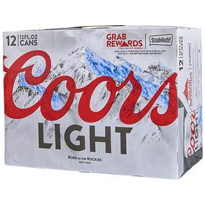 Coors Light 12pk 12 oz Cans