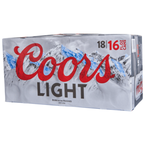 Coors Light 18pk 16 oz Cans