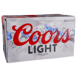 Coors Light Loose 24pk 12 oz Bottles
