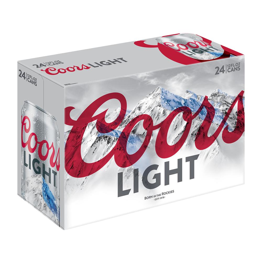 Coors Light Suitcase 24pk 12 oz Cans