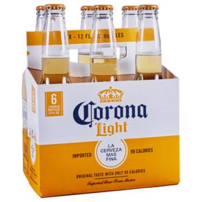 Corona Light 6pk 12 oz Bottles