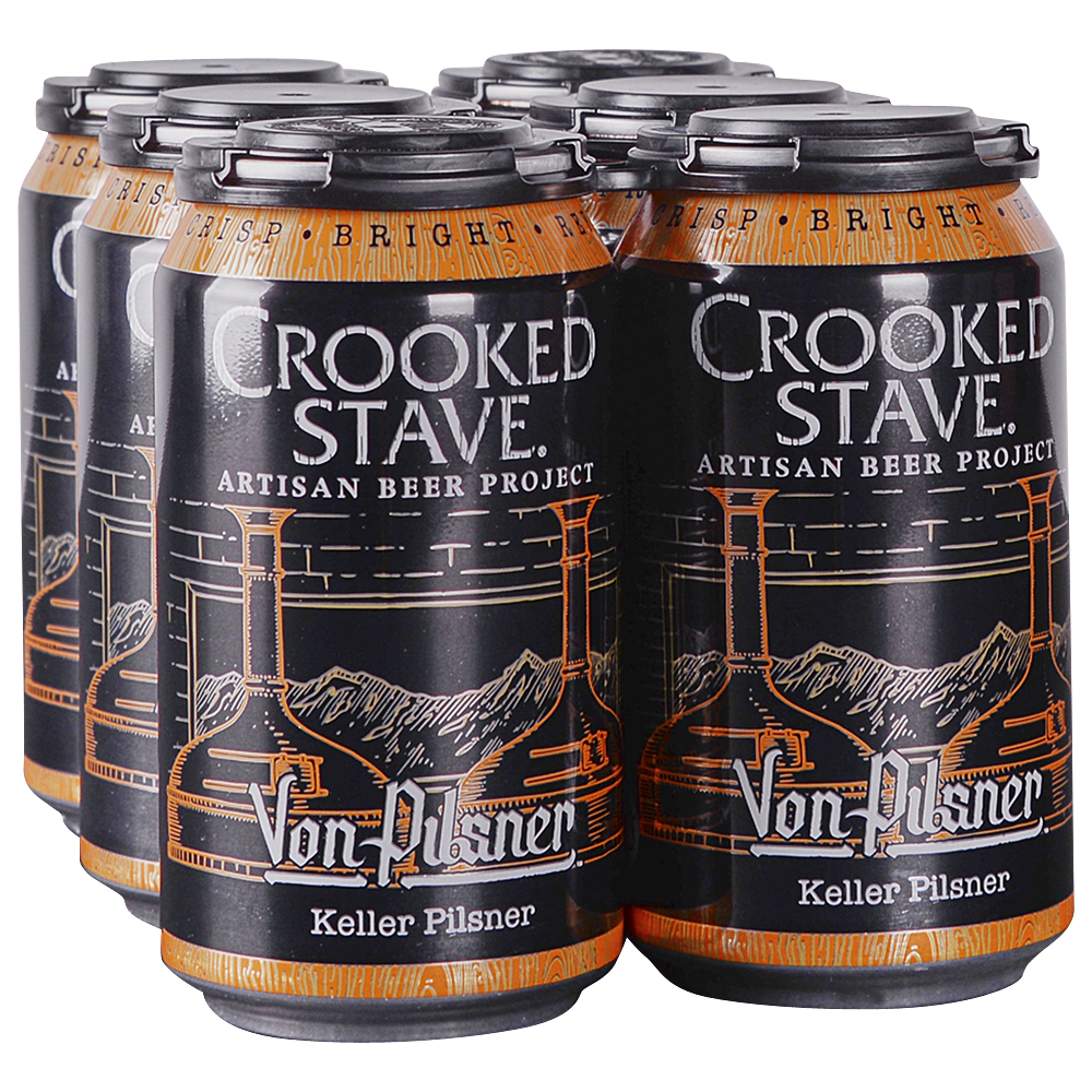 Crooked Stave Von Pilsner 6pk 12 oz Cans