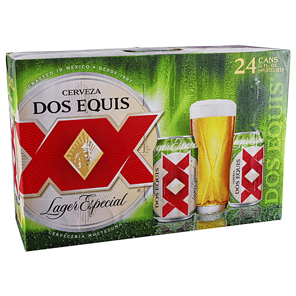 Dos Equis XX Lager Suitcase 24pk 12 oz Cans