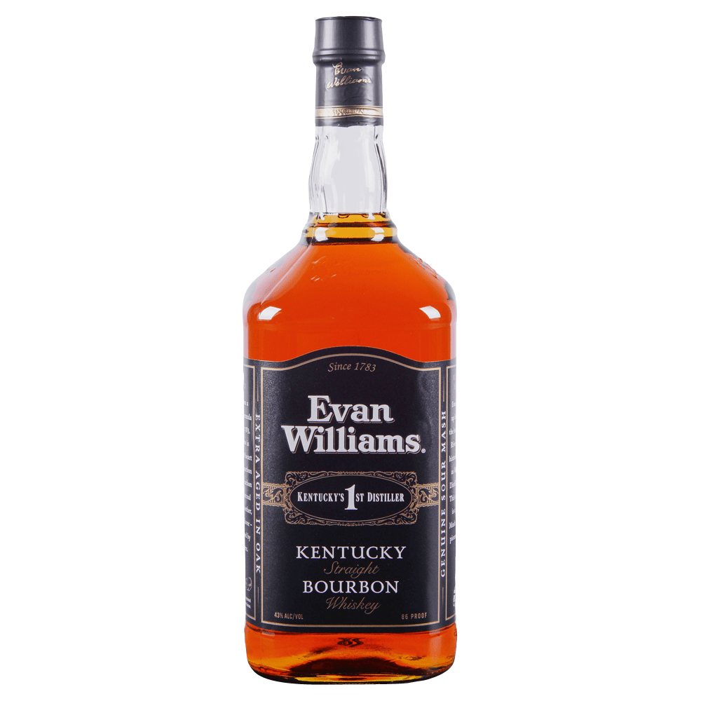 Evan Williams Black Kentucky Straight Bourbon Whiskey 1.75 l