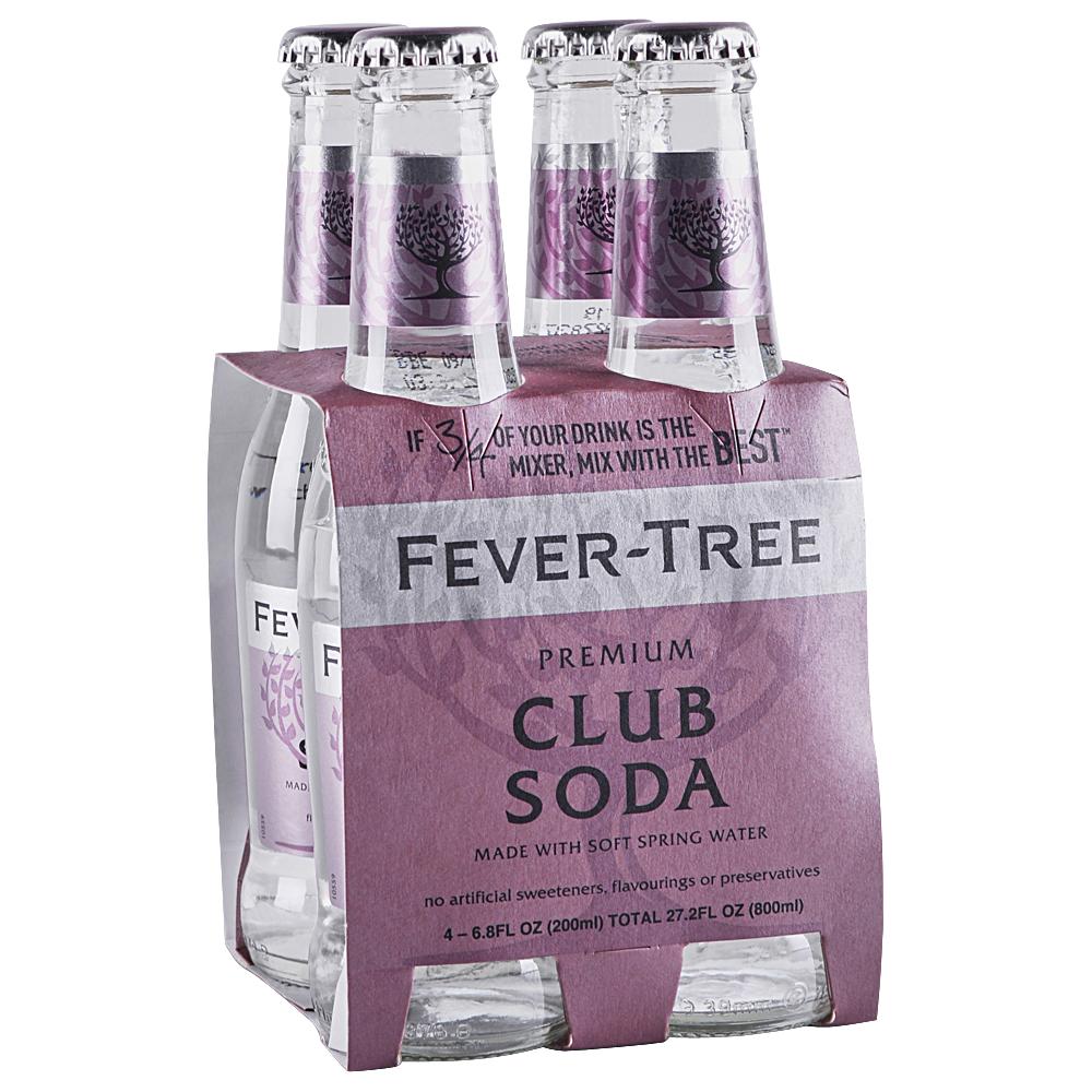 Fever Tree Club Soda 4 pk