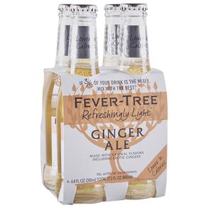 Fever Tree Light Ginger Ale 4pk 200 ml