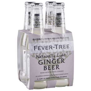 Fever Tree Light Ginger Beer 4pk