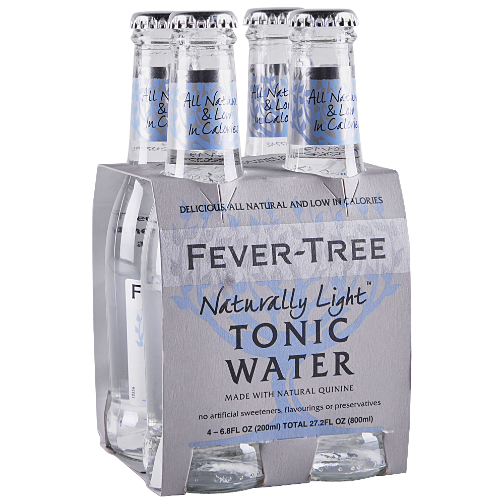 Fever Tree Natural Light Tonic Water 4 pk