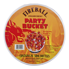 Fireball Cinnamon Whiskey Bucket 20pk 50 ml