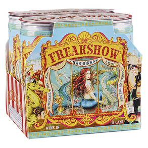 Freakshow Chardonnay Can 4 pack 187 ml