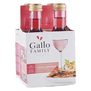 Gallo Family White Zinfandel 4 pack 187 ml