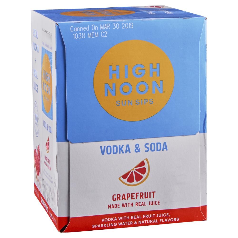 High Noon Grapefruit Vodka Soda 4pk 12 oz Cans