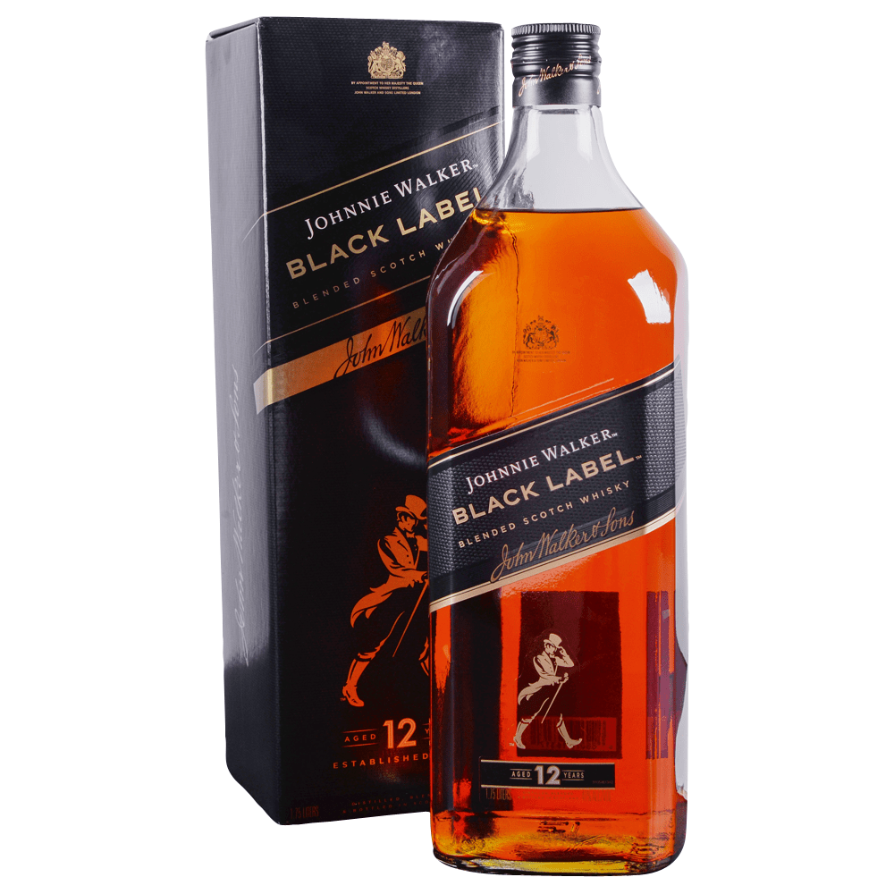 Johnnie Walker Black Label 12 Year Blended Scotch 1.75 L