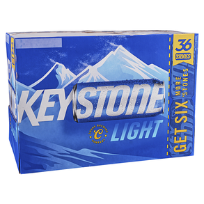 Keystone Light 36pk 12 oz Cans