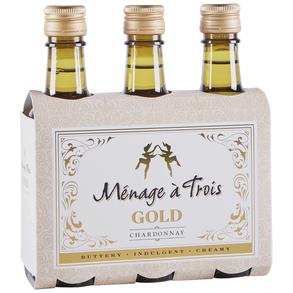 Menage A Trois Chardonnay Gold 3 pack 187 ml