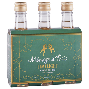 Menage A Trois Pinot Grigio Limelight 3 pack 187 ml