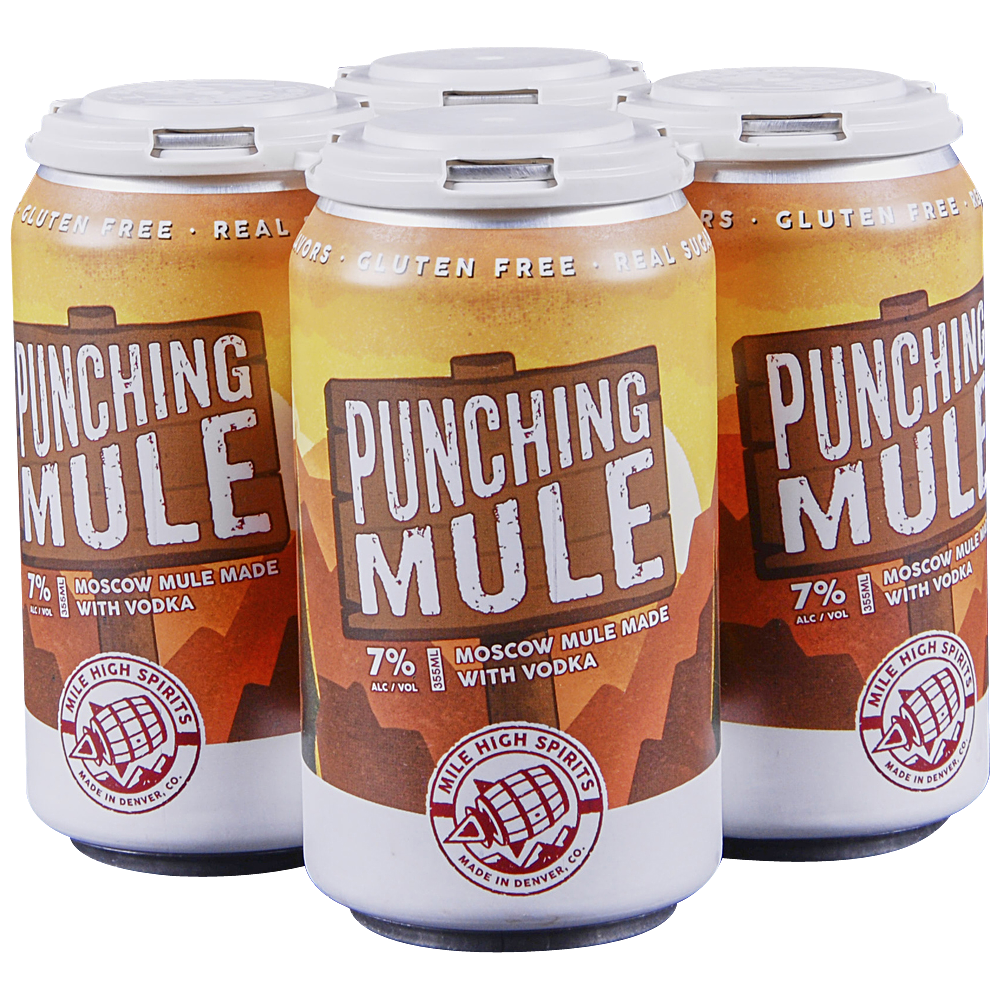 Mile High Punching Mule 4pk 12 oz Cans