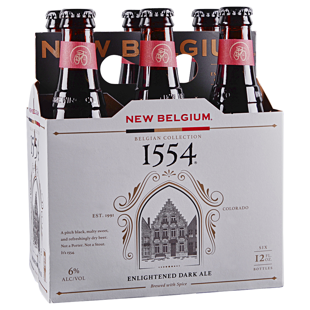 New Belgium 1554 Black Lager 6pk 12 oz Bottles