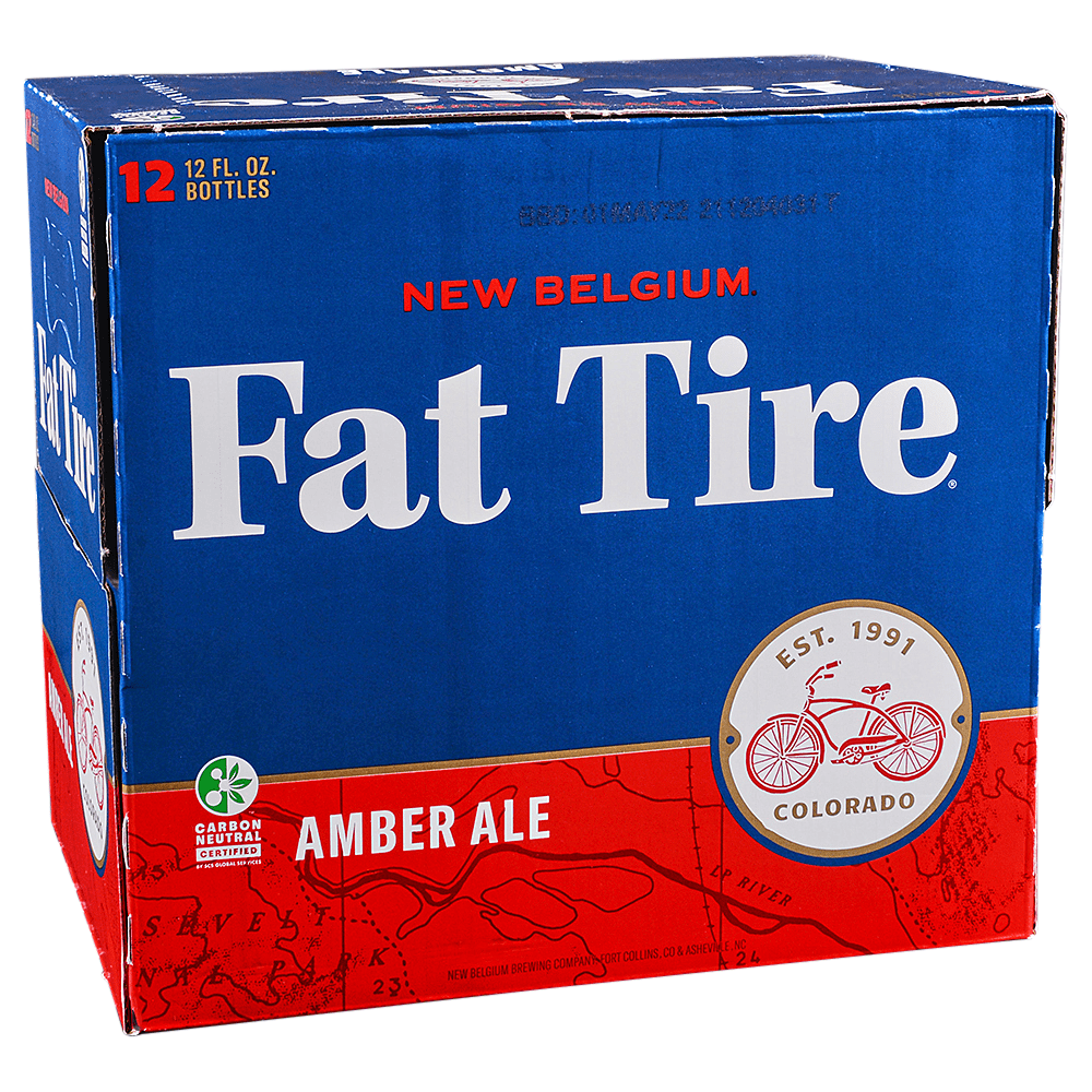 New Belgium Fat Tire Amber 12pk 12 oz Bottles