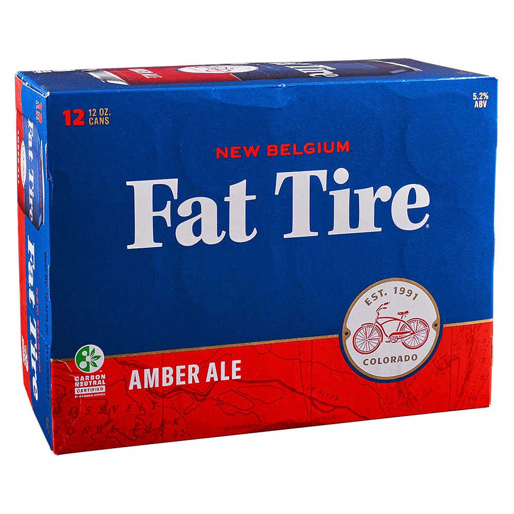 New Belgium Fat Tire Amber 12pk 12 oz Cans