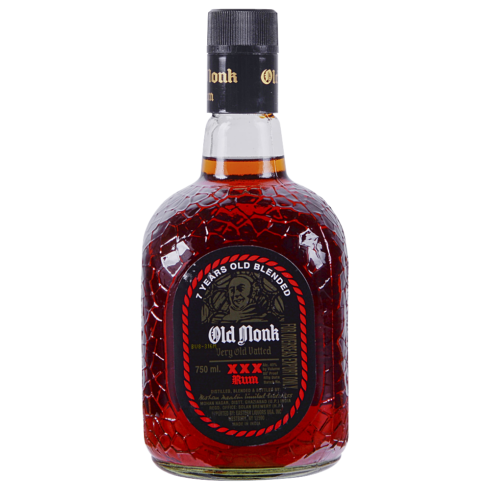 Applejack Old Monk Rum 7 Year