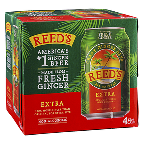 Reeds Extra Ginger Beer 4pk 12 oz Cans