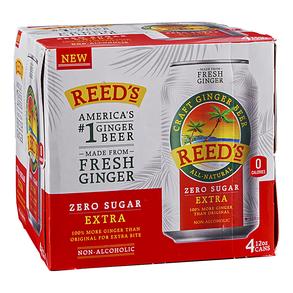 Reeds Zero Sugar Extra Ginger Beer 4pk 12 oz Cans