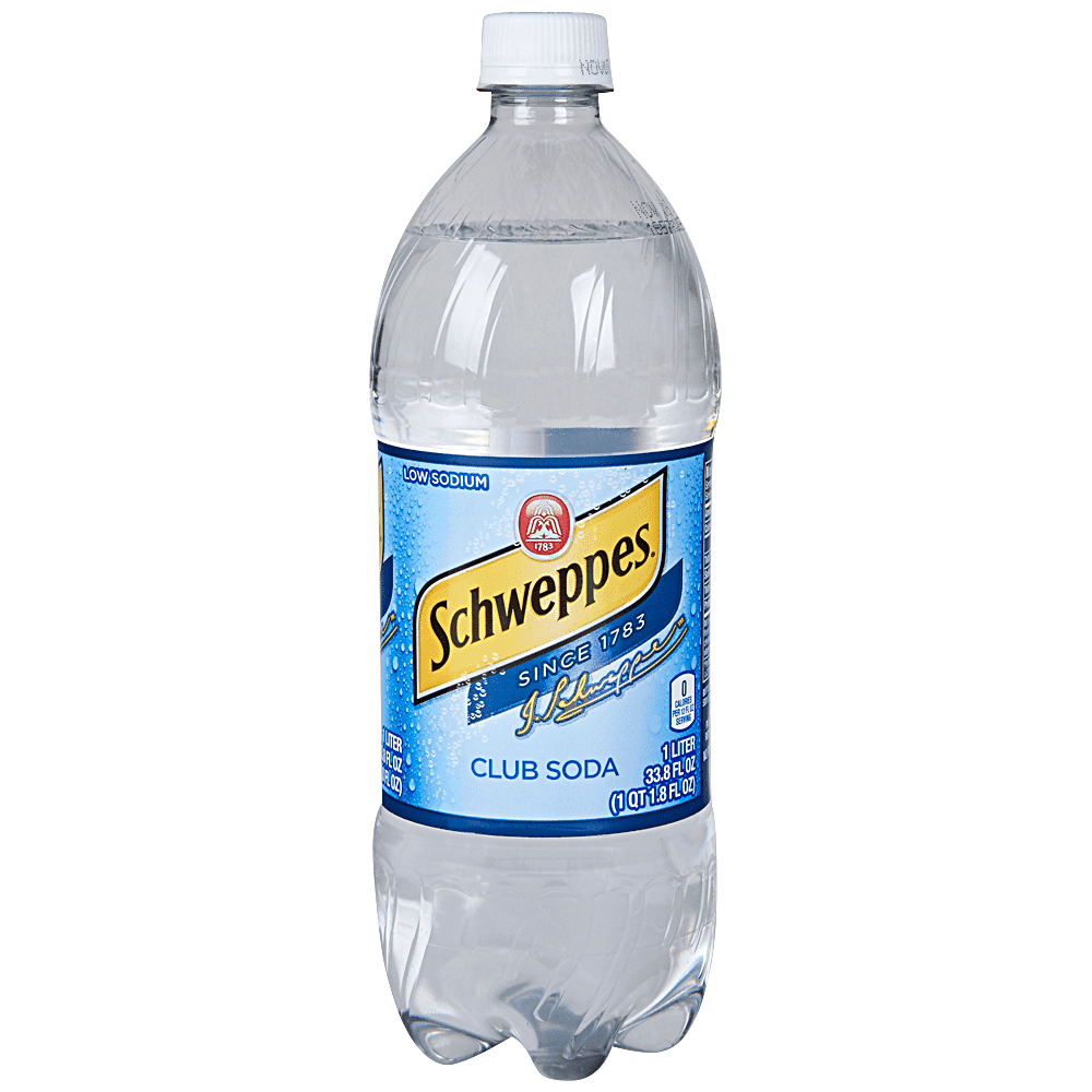 Applejack Schweppes Club Soda 1 Liter