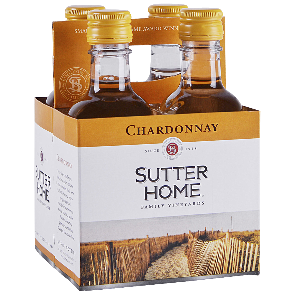 Sutter Home Chardonnay 4 pack 187 ml
