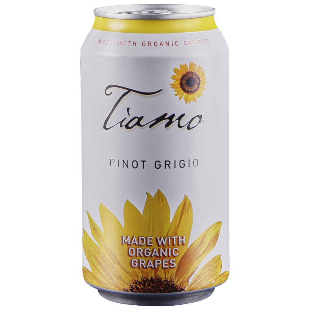 Tiamo Pinot Grigio Organic Can 375 ml
