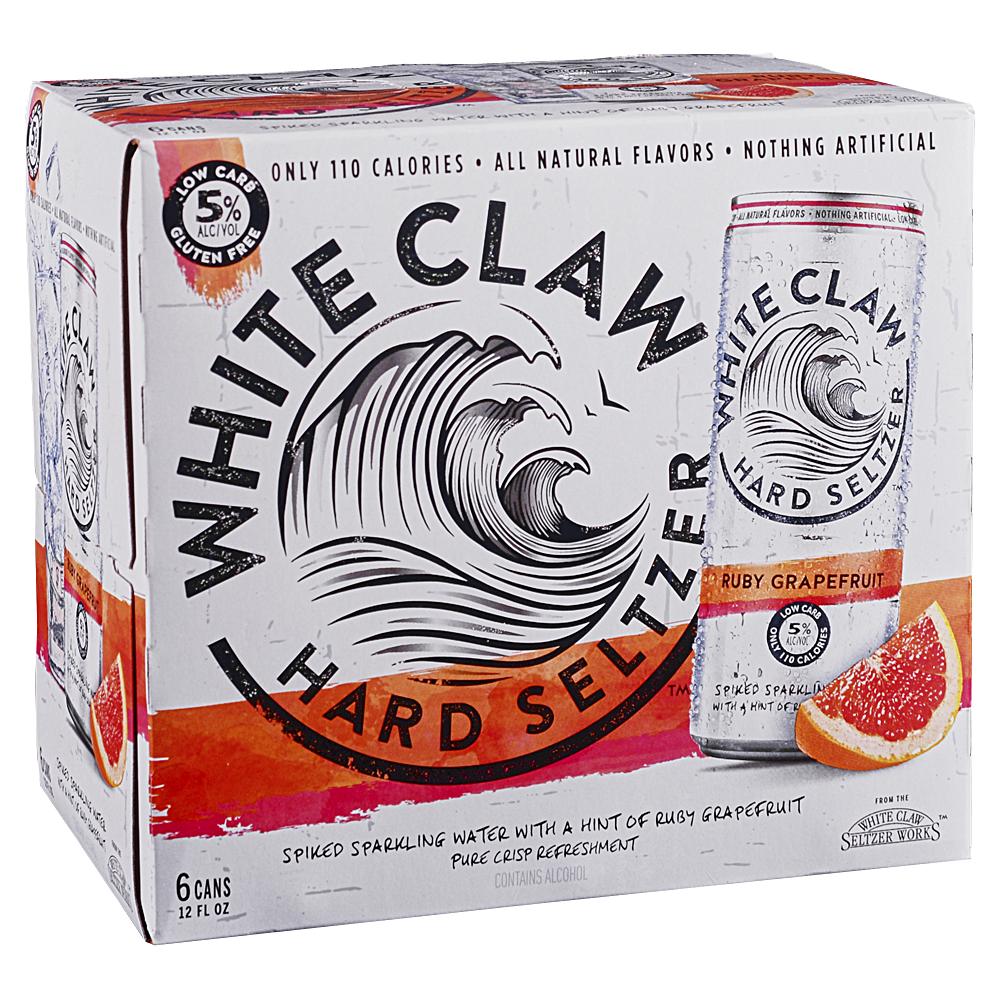 White Claw Grapefruit 6pk 12 oz Cans