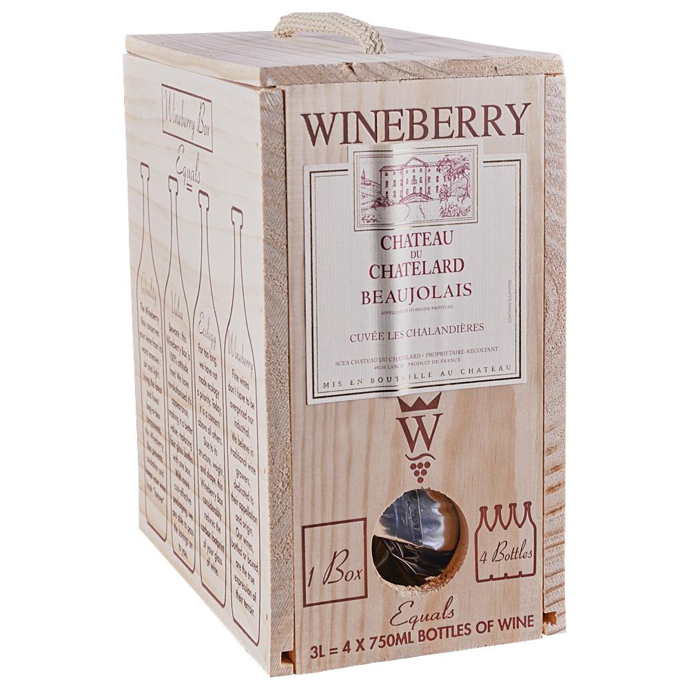 Wineberry Chateau Du Chatelard Beaujolais Box 3.0 L